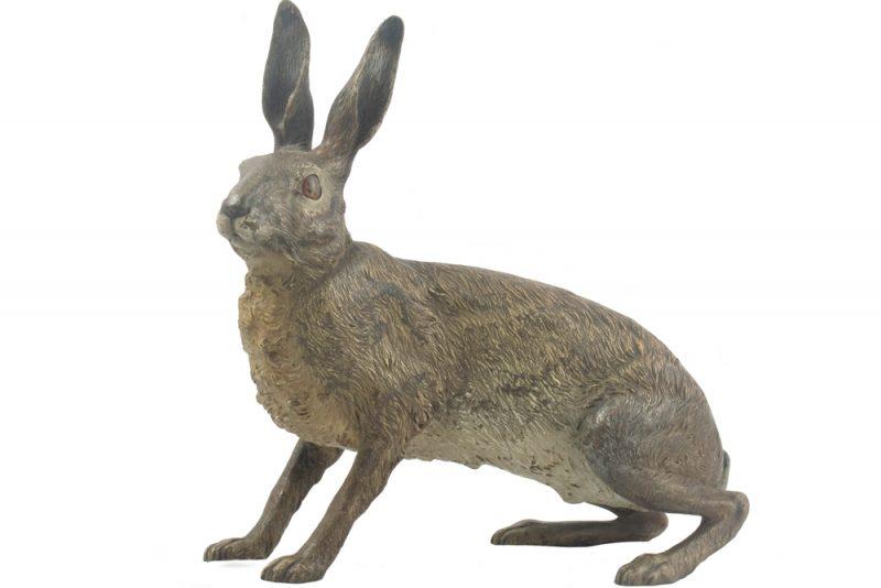 Bronce vienes conejo