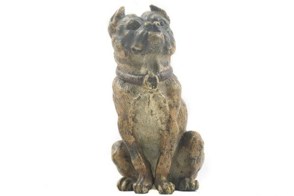 Bronce Vienes Figura Bulldog frontal