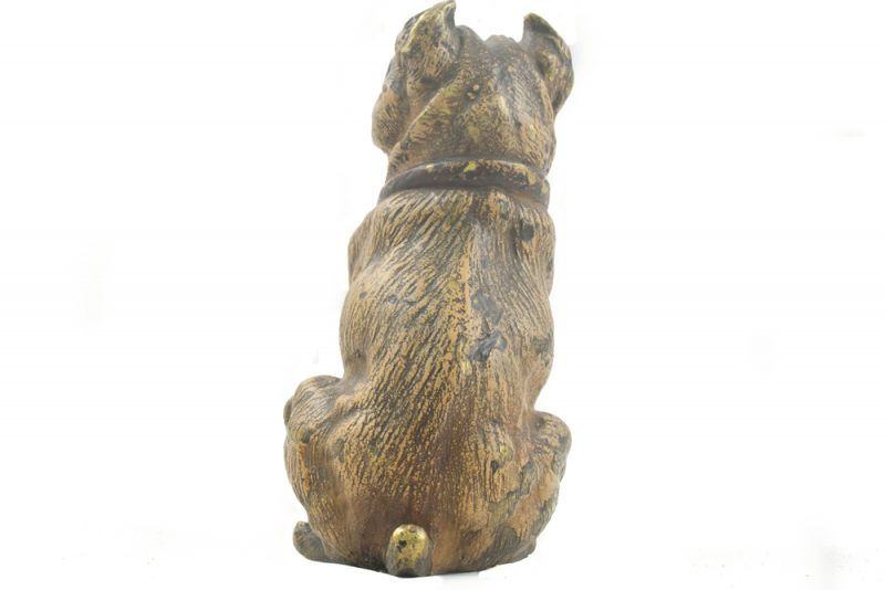Bronce Vienes Figura Bulldog trasera