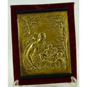 Placa bronce italiano