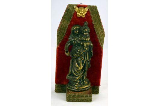 Virgen niño bronce