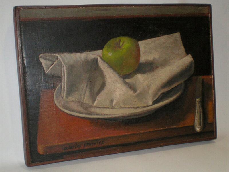 Bodegón con manzana