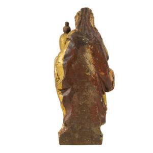 Talla madera María Magdalena S. XVII trasera