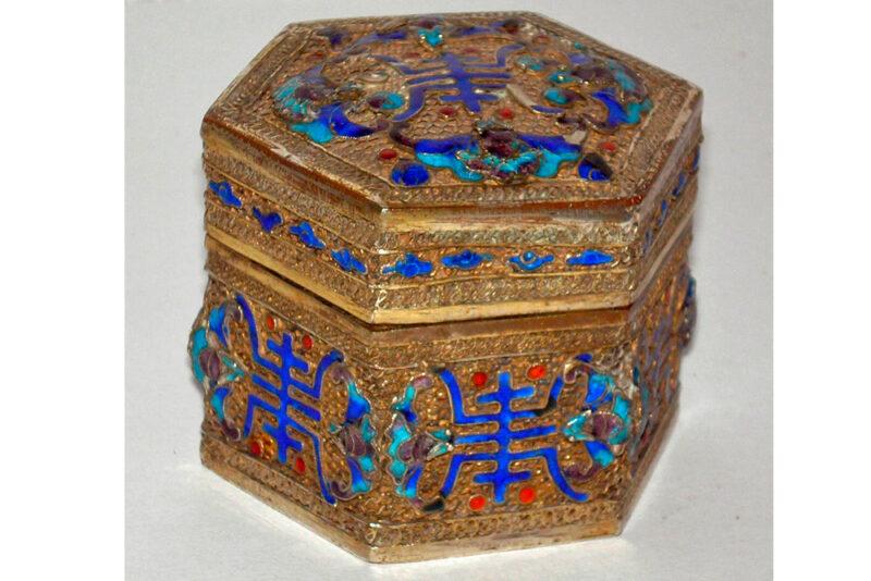 Caja hexagonal china